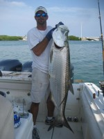 Tarpon fishing on The Reel Sharp Sport Fishing Charter Boat Rental in Islamorada in the Florida Keys